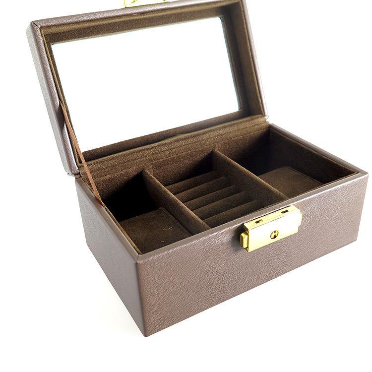 ペアウォッチ アクセサリーボックス 鍵付き PAIR-BOX ブラウン