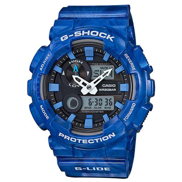 カシオ CASIO Gショック G-SHOCK Gライド G-LIDE クオーツ メンズ 腕時計 GAX-100MA-2A ブラック/ブルー