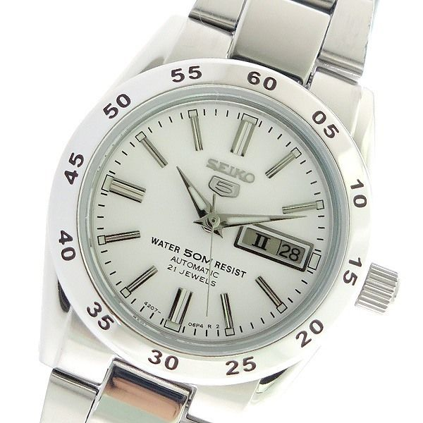 セイコー SEIKO セイコー5 SEIKO 5 自動巻き レディース 腕時計 SYMG35K1 ホワイト