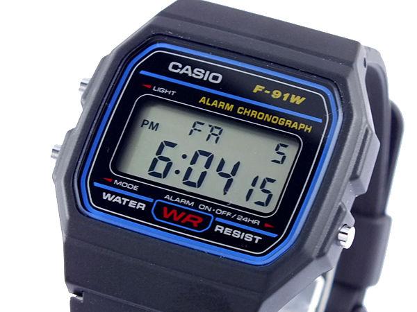 カシオ CASIO スタンダード デジタルクオーツ メンズ 腕時計 F-91W-1
