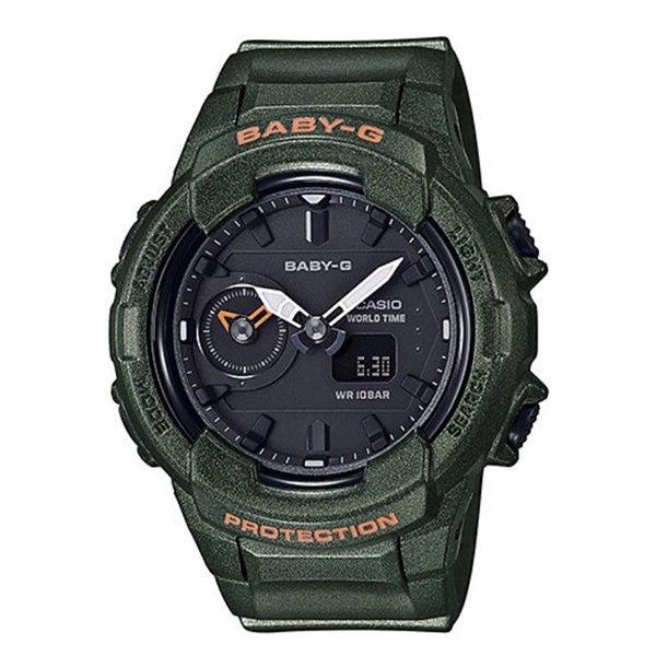 カシオ CASIO ベビーG Baby-G ミリタリーカラー アナデジ クオーツ レディース クロノ 腕時計 BGA-230S-3A ブラック