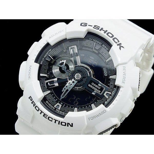 カシオ CASIO Gショック ホワイト&ブラック アナデジ メンズ 腕時計 GA-110GW-7AJF