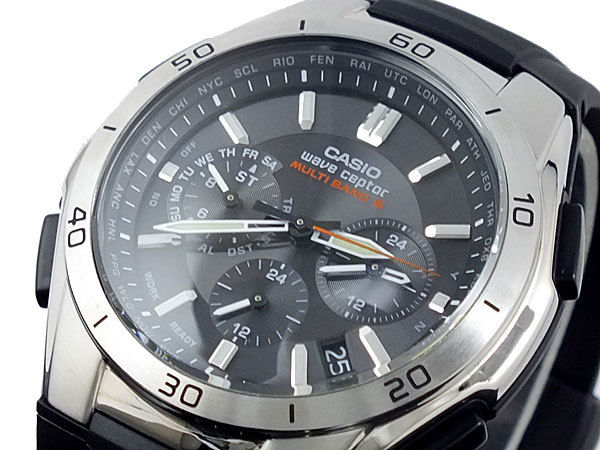 カシオ CASIO ウェーブセプター WAVE CEPTOR 電波 ソーラー メンズ 腕時計 WVQ-M410-1AJF ブラック