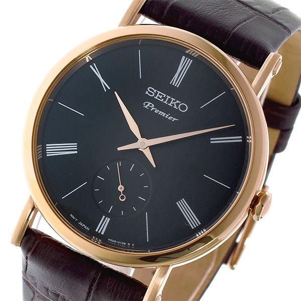 セイコー SEIKO プルミエ Premier クオーツ ユニセックス 腕時計 SRK040P1 ダークグレー
