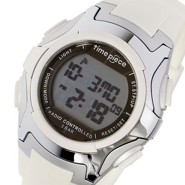 タイムピース TIME PIECE 電波ソーラー デジタル メンズ 腕時計 TPW-001WH ホワイト