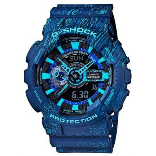 カシオ CASIO Gショック G-SHOCK アナデジ ミスト・テクスチャー メンズ 腕時計 GA-110TX-2A ブルー