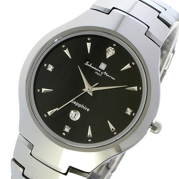 サルバトーレ マーラ SALVATORE MARRA クオーツ タングステン メンズ 腕時計 SM17104-SVBK ブラック