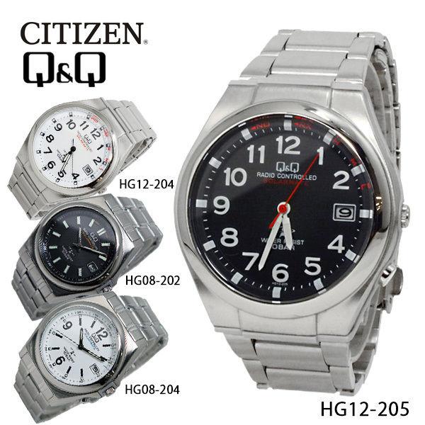 シチズン キューアンドキュー ソーラー 電波 メンズ 腕時計 HG12-205 ブラック