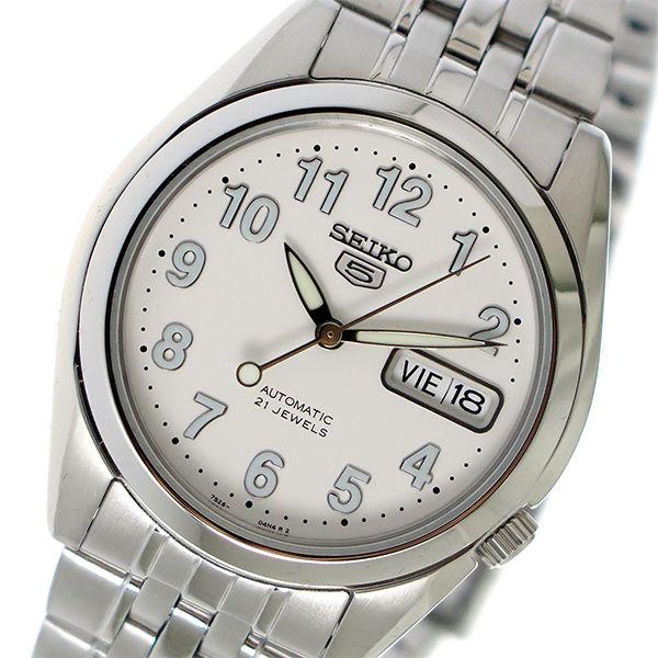 セイコー SEIKO セイコー5 SEIKO 5 自動巻き メンズ 腕時計 SNK377K1 ホワイト