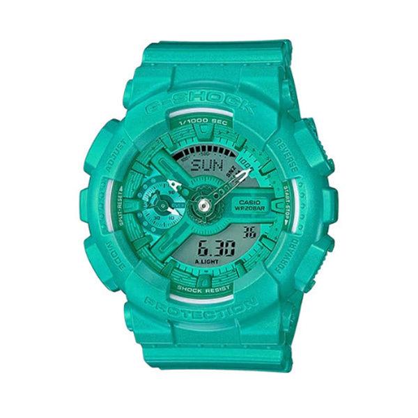 カシオ CASIO Gショック G-SHOCK エスシリーズ アナデジ クオーツ メンズ クロノ 腕時計 GMA-S110VC-3A グリーン