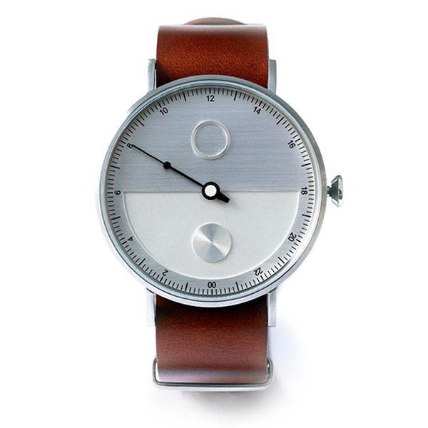 タックス TACS DAY&NIGHT メンズ 腕時計 TS1602A シルバー×ブラウン