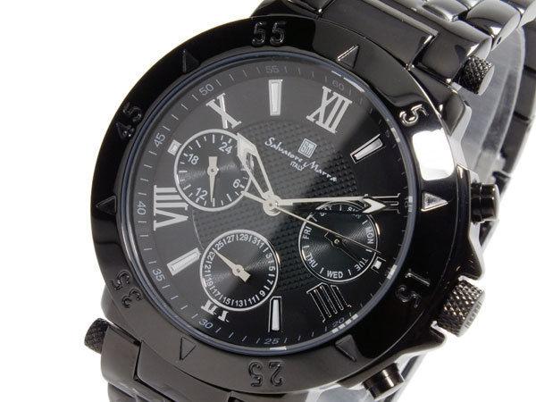 サルバトーレマーラ SALVATORE MARRA クオーツ メンズ 腕時計 SM14118-IPBK