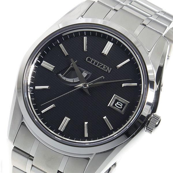 シチズン シグネチャー エコドライブ クオーツ メンズ 腕時計 AQ3001-54E ブラック