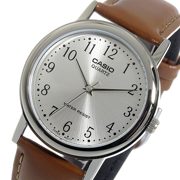 カシオ CASIO クオーツ メンズ 腕時計 MTP-1095E-7B シルバー