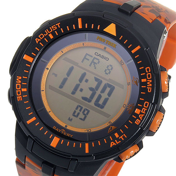 カシオ CASIO プロトレック クオーツ メンズ 腕時計 PRG-300CM-4 オレンジカモフラ