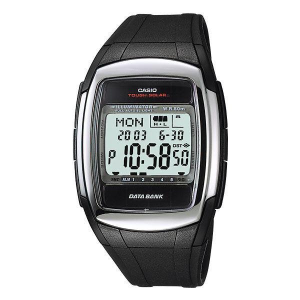 カシオ CASIO データバンク DATA BANK ソーラー メンズ 腕時計 DB-E30-1A ブラック