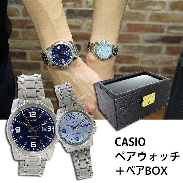 【ペアウォッチ】 カシオ CASIO チープカシオ ユニセックス 腕時計 MTP-1314D-2A LTP-1314D-2A ペアボックス付