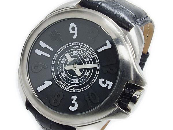 コグ COGU ジャンピングアワー 自動巻き メンズ 腕時計 JHR-BK