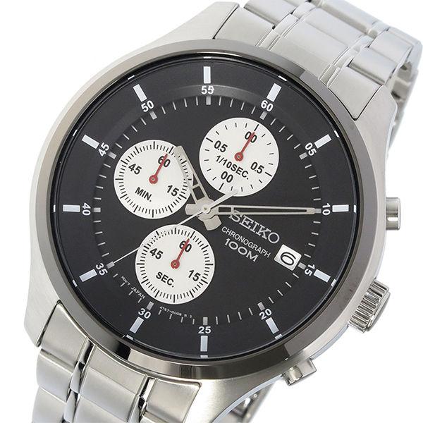セイコー SEIKO クロノ クオーツ メンズ 腕時計 SKS545P1 ブラック