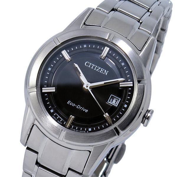 シチズン CITIZEN エコドライブ ソーラー レディース 腕時計 FE1030-50E ブラック