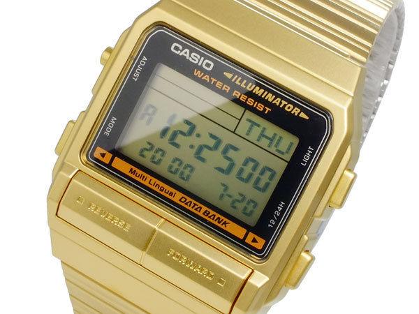 カシオ CASIO データバンク DATA BANK デジタル メンズ デュアルタイム 腕時計 DB-380G-1