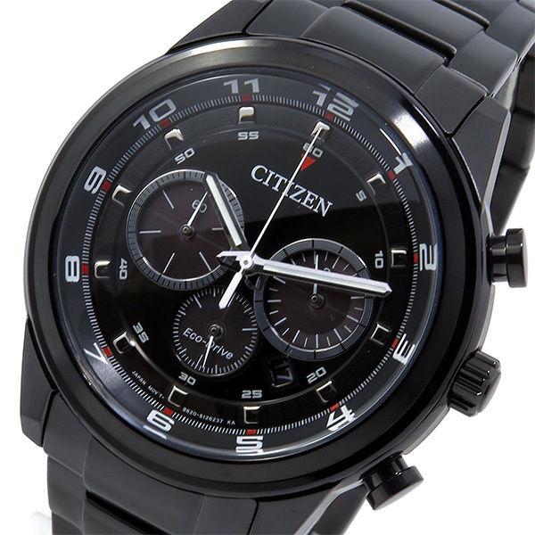 シチズン エコドライブ クロノ クオーツ メンズ 腕時計 CA4035-57E ブラック
