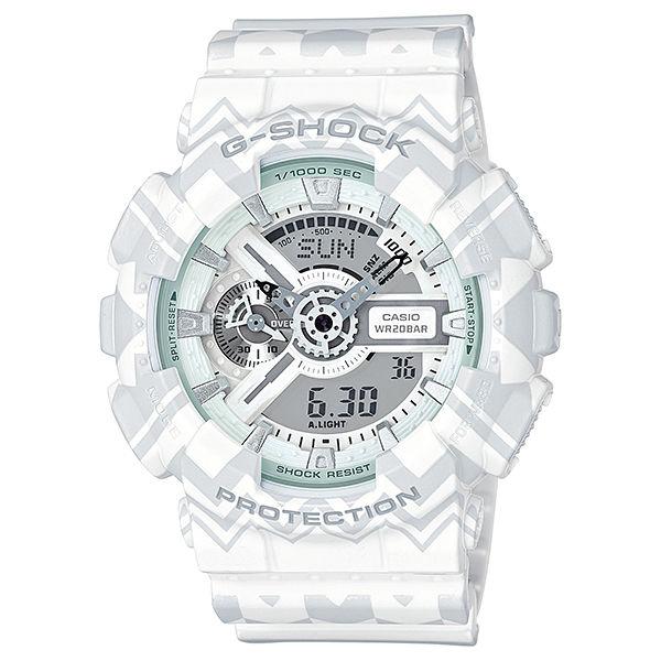 カシオ CASIO Gショック G-SHOCK アナデジ トライバル メンズ 腕時計 GA-110TP-7A ホワイトトライバル