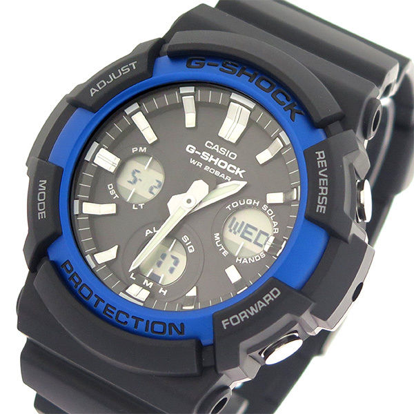 カシオ CASIO Gショック G-SHOCK 電波ソーラー クオーツ メンズ 腕時計 GAS-100B-1A2 ブラック/ブラック