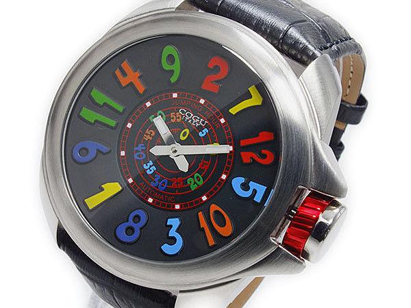 コグ COGU ジャンピングアワー 自動巻き メンズ 腕時計 JHR-BCL