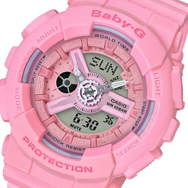 カシオ CASIO ベビーG Baby-G ピンクブーケ アナデジ クオーツ レディース クロノ 腕時計 BA-110-4A1 ピンク