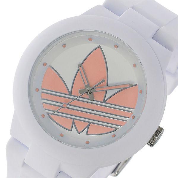 アディダス ADIDAS アバディーン クオーツ ユニセックス 腕時計 ADH3143 ホワイト/パステルピンク