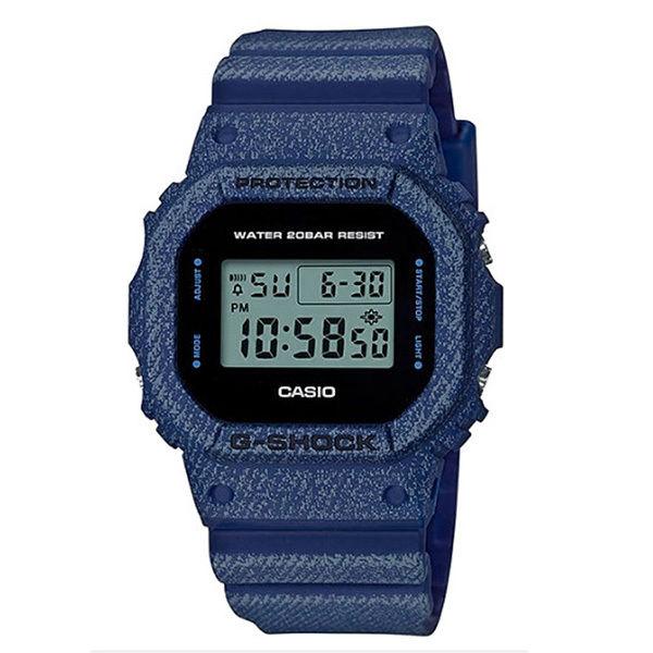 カシオ CASIO ベビーG Baby-G デニムドカラー DENIM'D COLOR クオーツ レディース クロノ 腕時計 DW-5600DE-2 液晶/ブラック