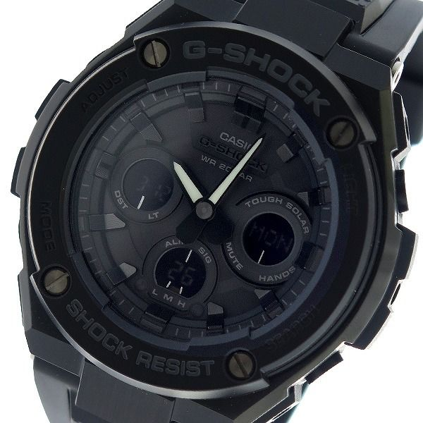 カシオ CASIO Gショック G-SHOCK Gスチール G-STEEL クオーツ メンズ 腕時計 GST-S300G-1A1 ブラック