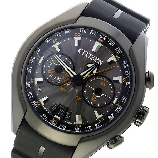 シチズン エコドライブ サテライト ウェーブ 電波 ソーラー メンズ 腕時計 CC1075-05E グレー