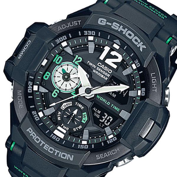 カシオ CASIO G-SHOCK デジアナ メンズ 腕時計 GA-1100-1A3JF ブラック 国内正規
