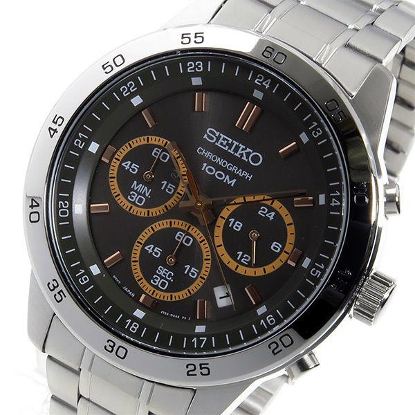 セイコー SEIKO クオーツ クロノ メンズ 腕時計 SKS521P1 ブラック