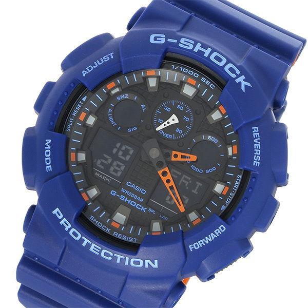 カシオ CASIO Gショック G-SHOCK クオーツ メンズ 腕時計 GA-100L-2A ブラック/ブルー