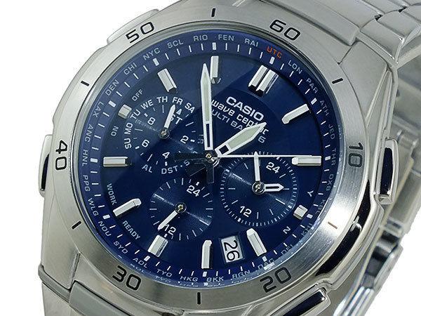 カシオ CASIO ウェーブセプター 電波 ソーラー メンズ 腕時計 WVQ-M410DE-2A2JF ネイビー 国内正規