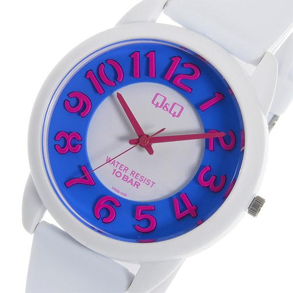 シチズン キューアンドキュー クオーツ ユニセックス 腕時計 VR66-009 ブルー