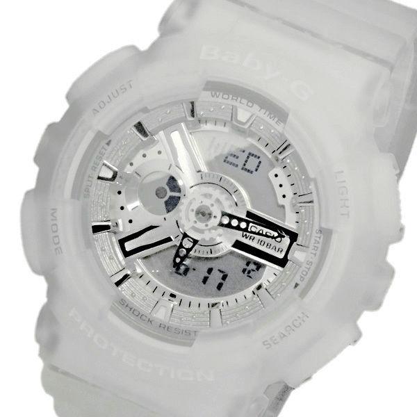 カシオ ベビーG デジタル レディース 腕時計 BA-110-7A2DR スケルトンホワイト
