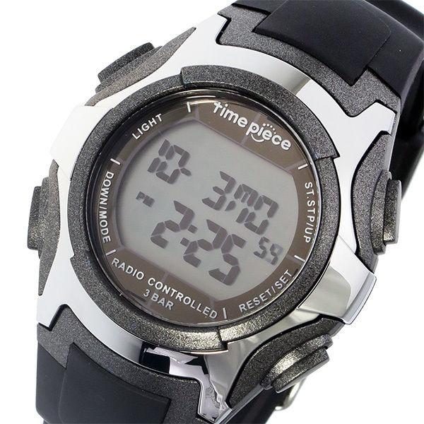 タイムピース TIME PIECE 電波ソーラー デジタル メンズ 腕時計 TPW-001GM ガンメタ