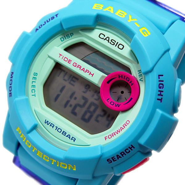 カシオ ベビージー Baby-G Gライド レディース 腕時計 BGD-180FB-2 ブルー