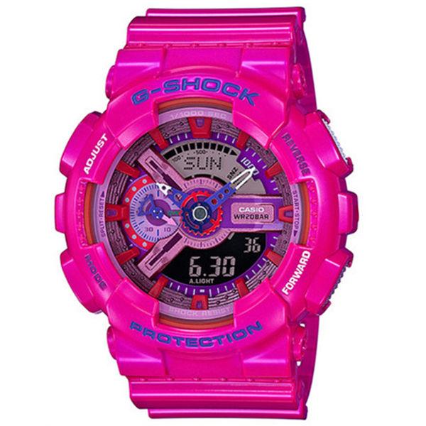 カシオ CASIO Gショック G-SHOCK クレイジーカラーズ クオーツ メンズ 腕時計 GA-110MC-4A ピンクマルチ