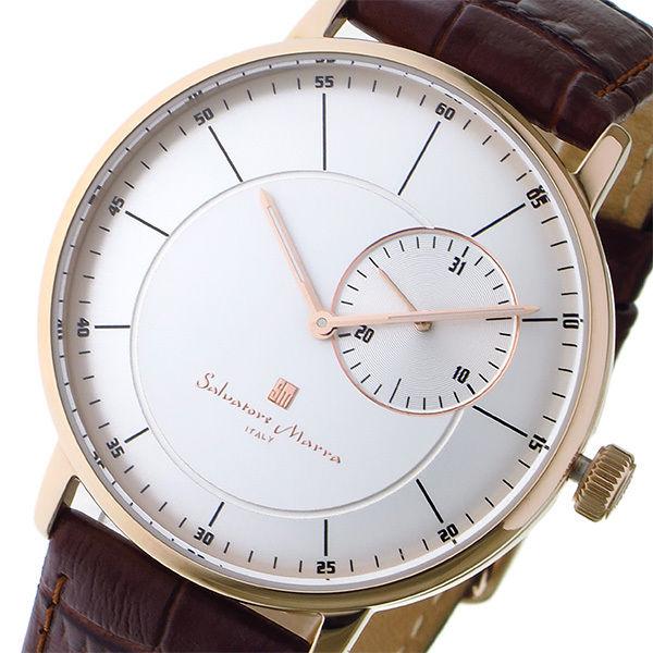 サルバトーレ マーラ SALVATORE MARRA クオーツ メンズ 腕時計 SM17105-PGSV シルバー