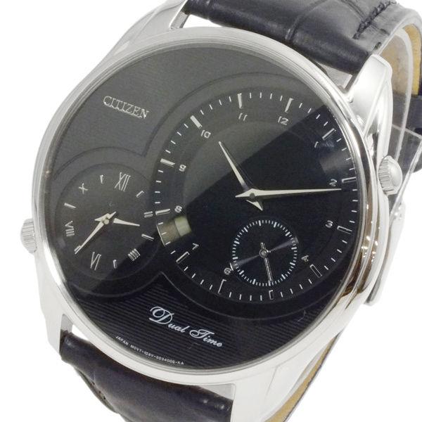 シチズン CITIZEN クオーツ メンズ デュアルタイム 腕時計 AO3009-04E ブラック