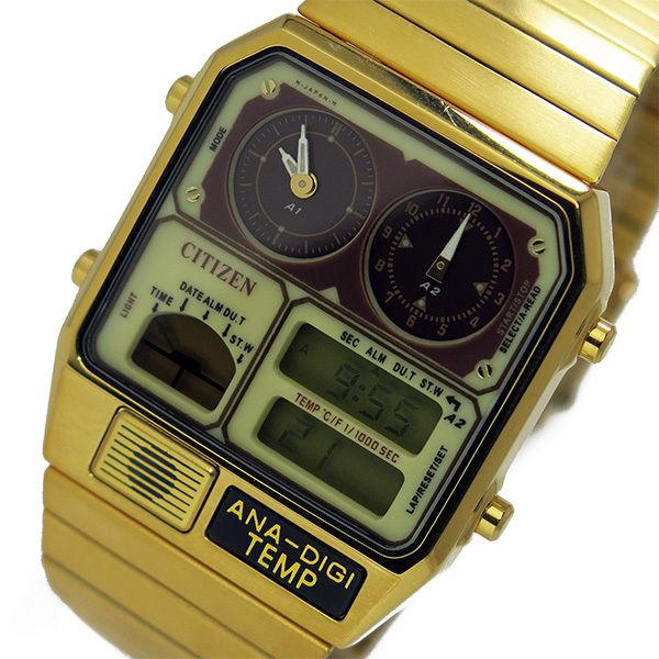 シチズン CITIZEN アナデジテンプ クオーツ メンズ 腕時計 JG2002-53P クリーム