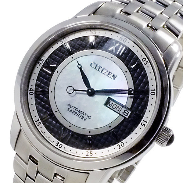 シチズン CITIZEN メカニカル 日本製 自動巻 メンズ 腕時計 NH8300-57E ブラック