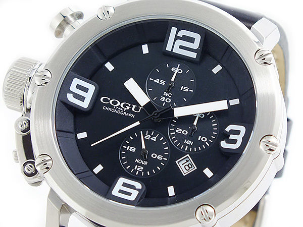 コグ COGU クオーツ クロノ メンズ 腕時計 C61-BK