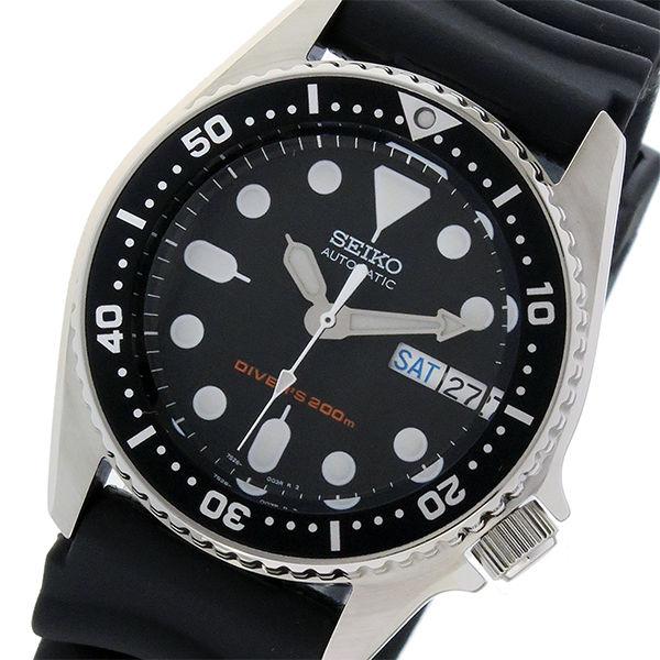 セイコー SEIKO ダイバー 自動巻き メンズ 腕時計 SKX013K ブラック