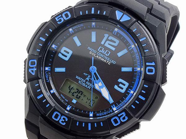 シチズン キューアンドキュー Q&Q クオーツ メンズ アナデジ 腕時計 MD06-335